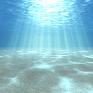 Light columns and caustics can complicate underwater imaging